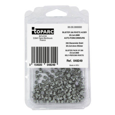 Pack of 200 Self Piercing Rivets 3.3x5mm