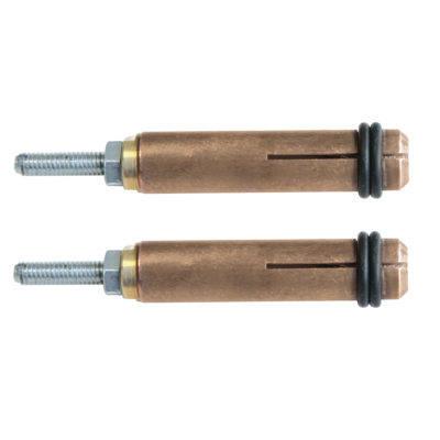 Set of 2 stud holder chucks 4mm